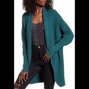 New Leith Dolman Green Bug Sleeve Long Cardigan